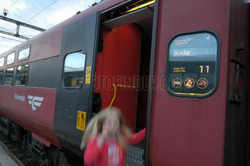 Schlafzug von Trondheim nach Bodo (Norwegen)  Signete.