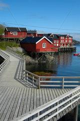 Fischerhuetten  Ferienhaeuser (Rorbuer) auf den Lofoten  Norwegen.