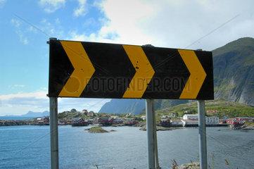 Der Ort A auf den Lofoten  Norwegen.