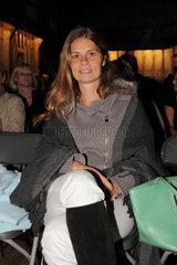 Sarah Wiener auf der MS Bleichen in Hamburg