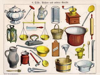 Kuechengeraete  Haushaltsgeraete  1885
