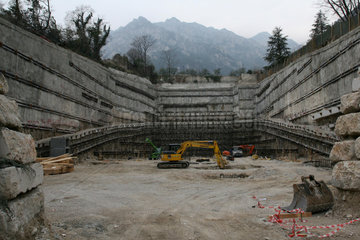 Bau eines Parkhauses