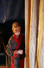 Clown backstage