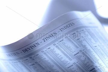 Wirtschaft   Finanzen  Zeitung  Zinsen  Devisen  Devisenhandel