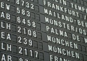 Flughafen  Ziel  Ziele  Richtung  Orientierung