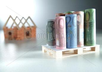 Bausparen  Haus bauen
