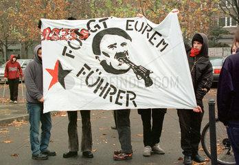 Grosse NPD-Demonstration: Gegendemonstranten