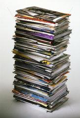 Zeitschriften  Stapel  Sammlung