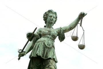 Justitia  Gerechtigkeit  Recht  Gericht  Frankfurt am Main