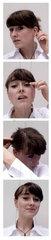 Bewerbungsfoto; Bewerbungsfotos; Automatenfoto; Automat; Streifen; junge Frau; eine Person; Portraet; vier; Automatenbilder; Bilderfolge; Bildstreifen; Filmstreifen; Passbilder; Passbild; Passfotos; Passfoto; 18-20 Jahre; 20-25 Jahre; 20-30 Jahre; Bahnhof
