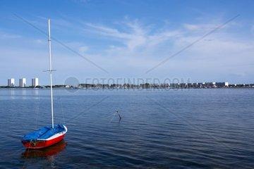 Blick auf Burgtiefe  Insel Fehmarn  Ostsee  Kreis Ostholstein  Schleswig-Holstein  Deutschland  Europa