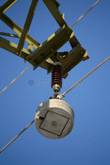 Isolator einer Hochspannungsleitung