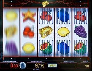 Ausschnitt eines Geldspielautomaten -