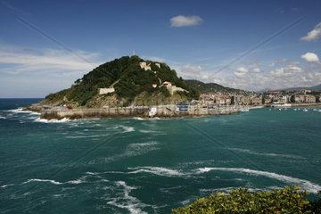 Blick zum Cristo del Sagrado Corazón  San Sebastian  baskisch Donostia  Baskenland  Nordspanien  Spanien  Europa