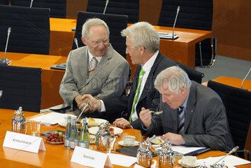 Schaeuble + Kretschmann + Seehofer
