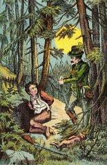 Jaeger verhaftet Wilderer 1888