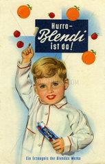 Blendi  erste Kinderzahnpasta  1956