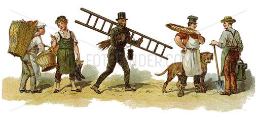 Handwerker  verschiedene Berufe  1895