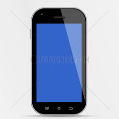Generic smartphone with blue display