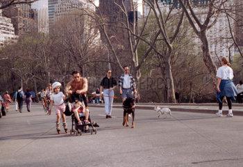 Familien Training in Central Park