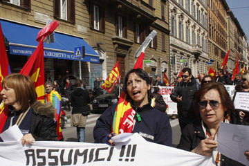 Basis Gewerkschaft in Rom