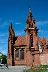 Die spaetgotische St.-Annen-Kirche in Vilnius