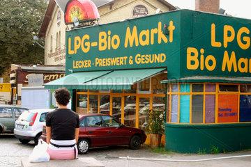 Eingang einer Bio Markt