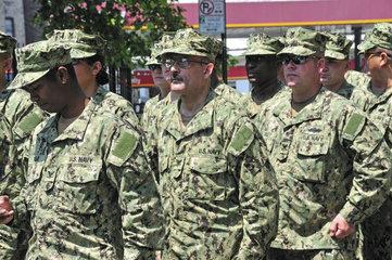 Soldaten der US Navy  Parade am Memorial Day  Manhattan  New York City  USA  Nordamerika  Amerika