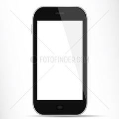 Einfaches Smartphone mit weissem Display