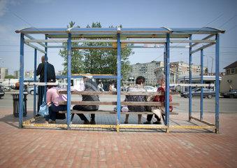 Bushaltestelle in Kaliningrad
