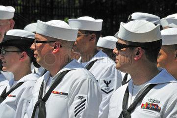 Soldaten des US Marine Corps  Parade am Memorial Day  Manhattan  New York City  USA  Nordamerika  Amerika