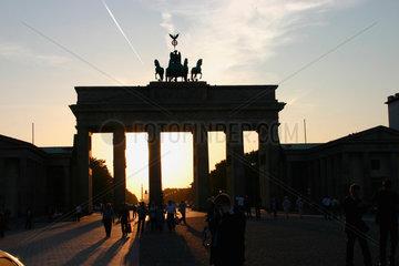 Sonnenuntergang am Brandenburger Tor