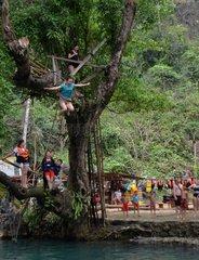 LAOS-VANG VIENG-TOURISM