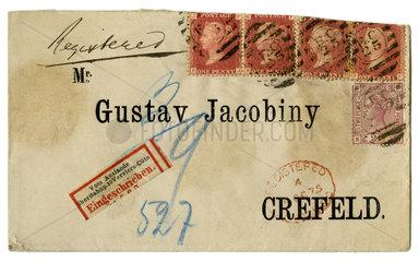 Einschreibbrief  1875
