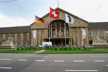 Schweiz. Basel Badische Bahnhof