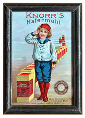 Knorrs Hafermehl  Werbung fuer Kindernahrung  1895