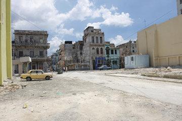 Baufaellige Gebaeuden im Havanna Centro