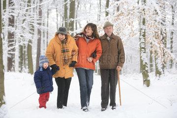 Spaziergang im Schnee.