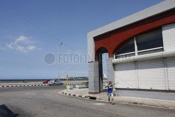 Ecke an der Malecón in Havanna