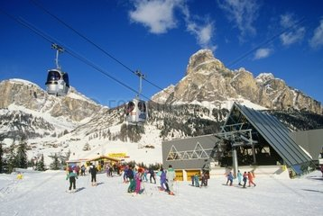 Trentino Alto Adige  Corvara Val badia  Piz Boe'cableway