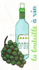 bouteille a vin  Flasche Wein