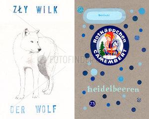 Der Wolf  Rotkaeppchen  Heidelbeere  Heidelbeeren