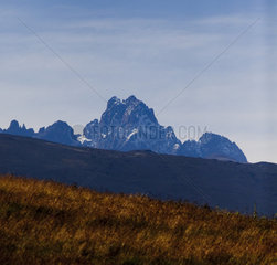Mount Kenya  Africa. 17.01.2012