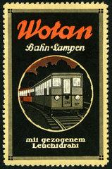 Wotan Bahnlampen  Werbemarke  1912