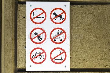 Verbotschschilder