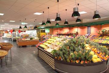 Rewe  Supermarkt  Angebot  Vielfalt  Ware  Obst  Ladenschluss