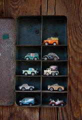 Auto  Spielzeug  Setzkasten  sammler