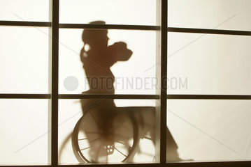 Schatten  Behinderung  Rollstuhl