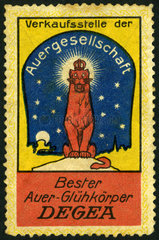 Werbung fuer Gaslampen  1912