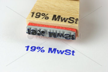 Neue deutsche 19% Mehrwertsteuer